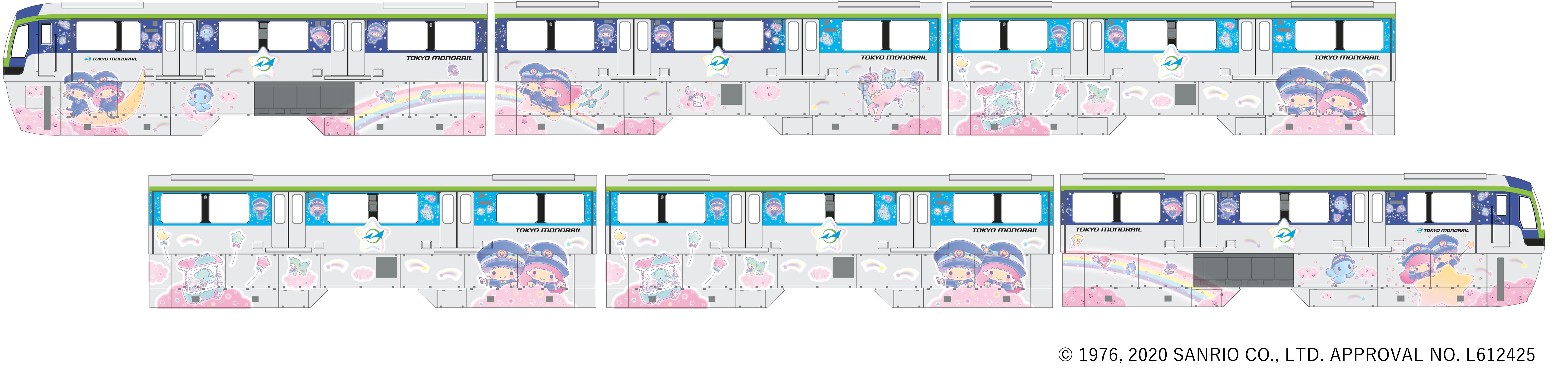 ©1976, 2020 SANRIO CO., LTD.Ⓗ ©2020 Tokyo Monorail/dwarf